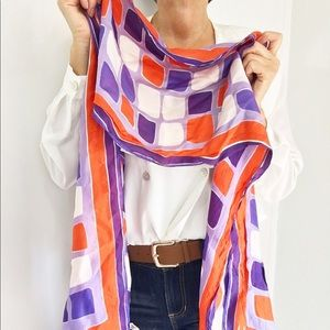 Vintage Psychedelic Print Vera Scarf Made In Italy